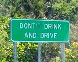 Maybe you should not drink whilst making signs!